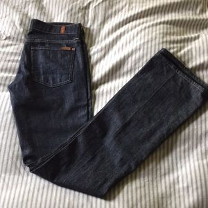 7 for all mankind. Long bootcut jeans. 27